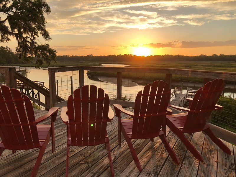 The sunsets over the river are breathtaking.  If you need a place to relax & unplug look no further.