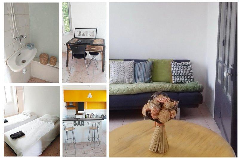Aubagne/Provence  bel appartement T3 indépendant avec vue, location de vacances à Gémenos