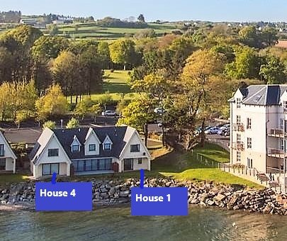 This shows how close the houses are to The Redcastle hotel and the sea