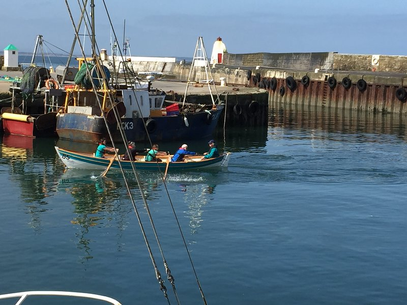 Burghead is definitely worth a visit with its working harbour - you may even spot some dolphins!