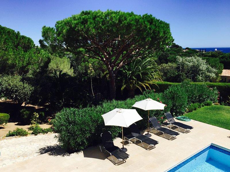Villa with sea view RAMATUELLE, holiday rental in Ramatuelle