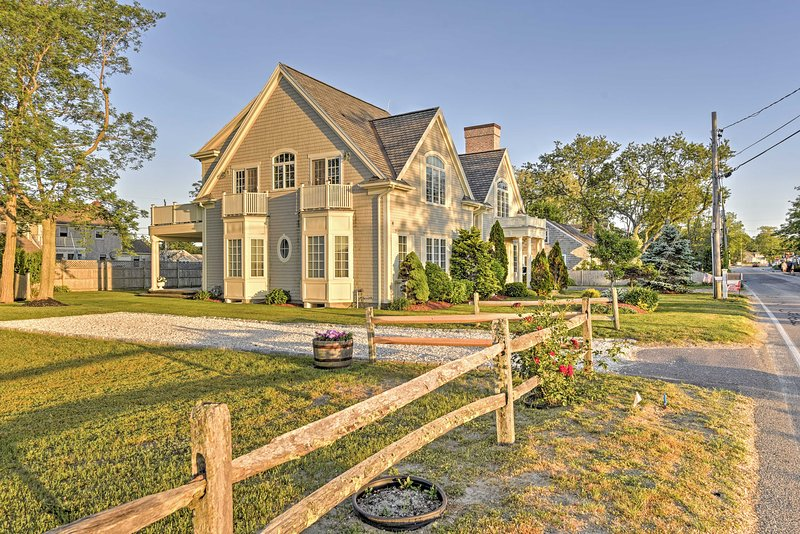 You'll have the ultimate beach experience when you stay at this luxurious vacation rental house in Barnstable.
