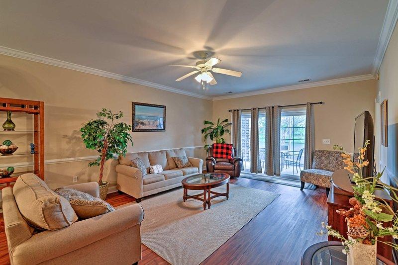 Your South Carolina beach getaway starts at this 3-bedroom, 2-bathroom vacation rental condo in Myrtle Beach.