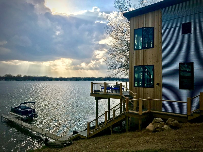 Devils Lake Manitou Beach Brand New Home 2011 sq ft, right on water