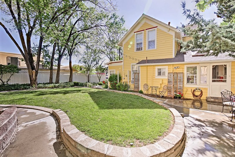 This lovely home sleeps up to 11 and features a large yard.