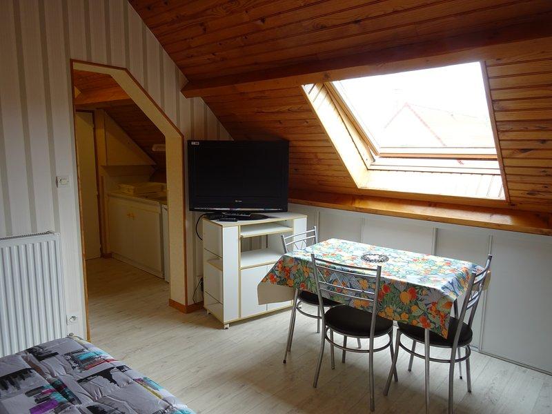 dining area of a studio