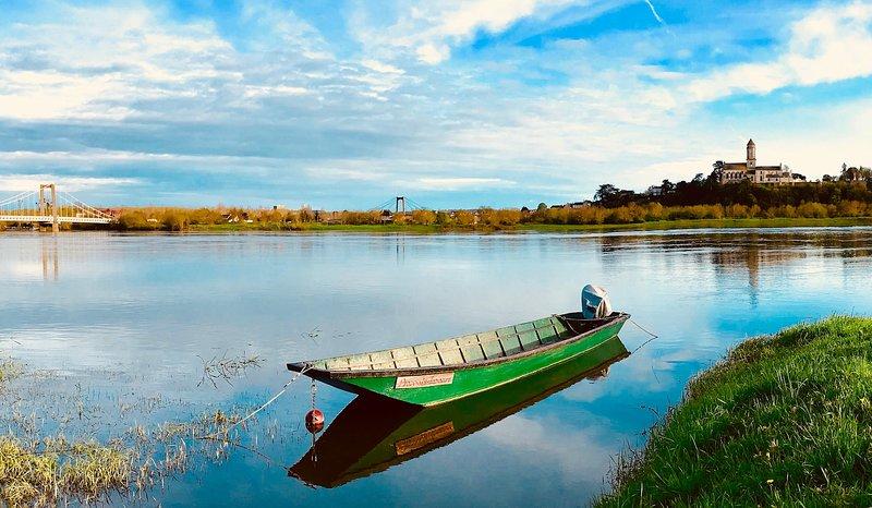 paisagem Loire direita na frente da casa
