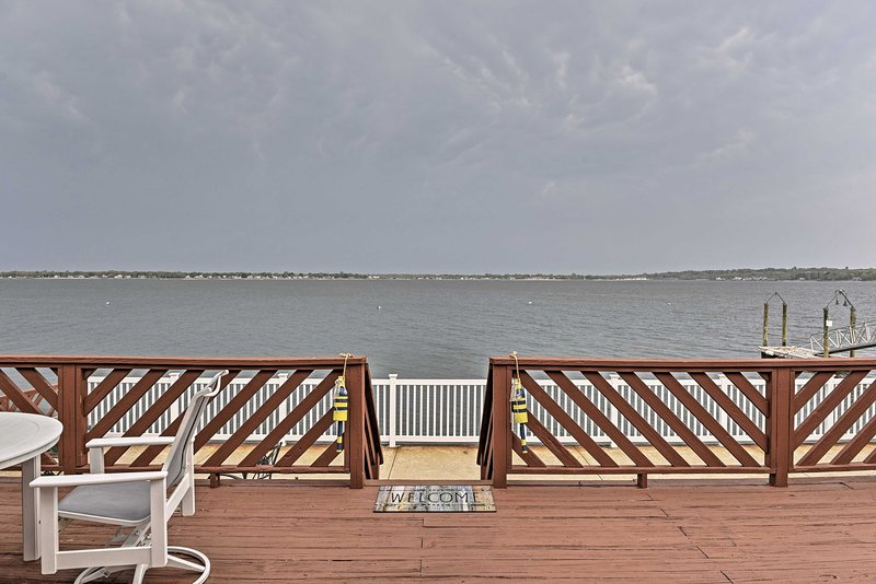Enjoy more waterfront views from the expansive furnished deck.