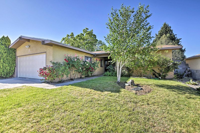 Explore Albuquerque from this wonderful vacation rental house.