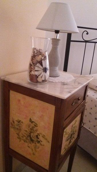Ornate antique bedside