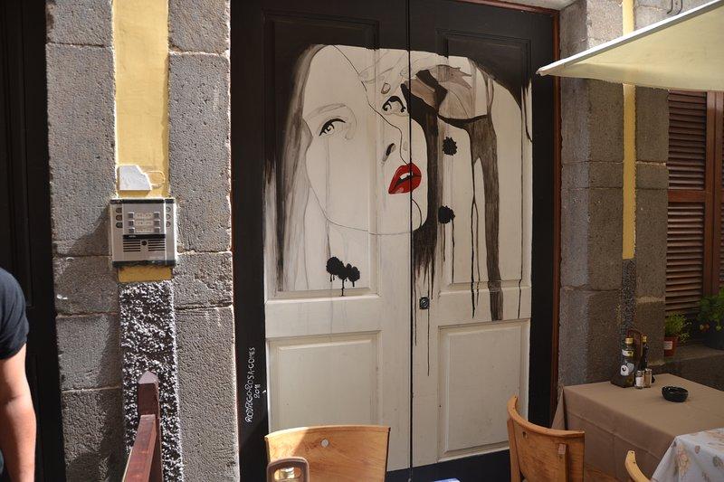 Street Art and Restaurants at Rua de Santa Maria