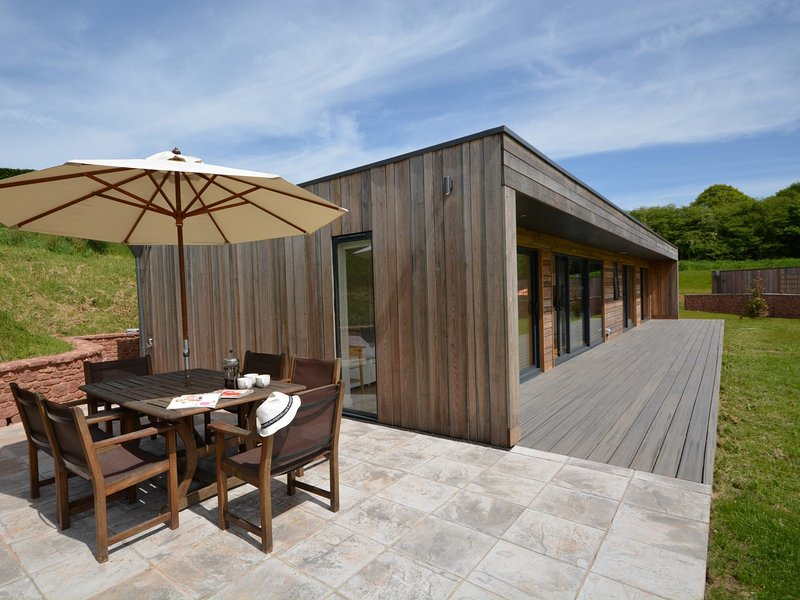 Morning coffee can be enjoyed outdoors on the outdoor furniture