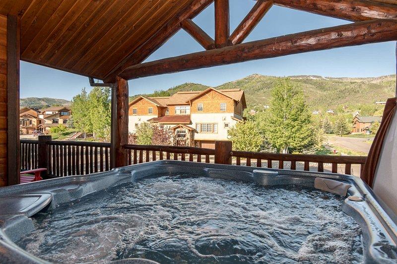 Jacuzzi privado con vistas al Steamboat Resort