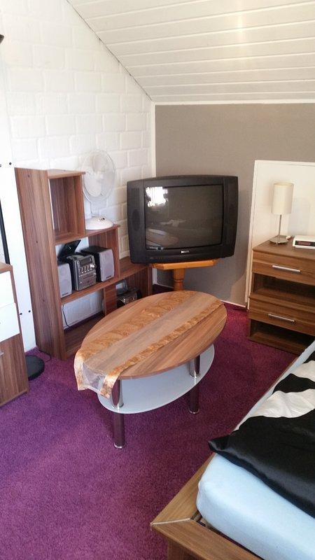 Chambre 2 avec la radio et la télévision.