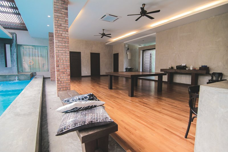 Living and dining area.