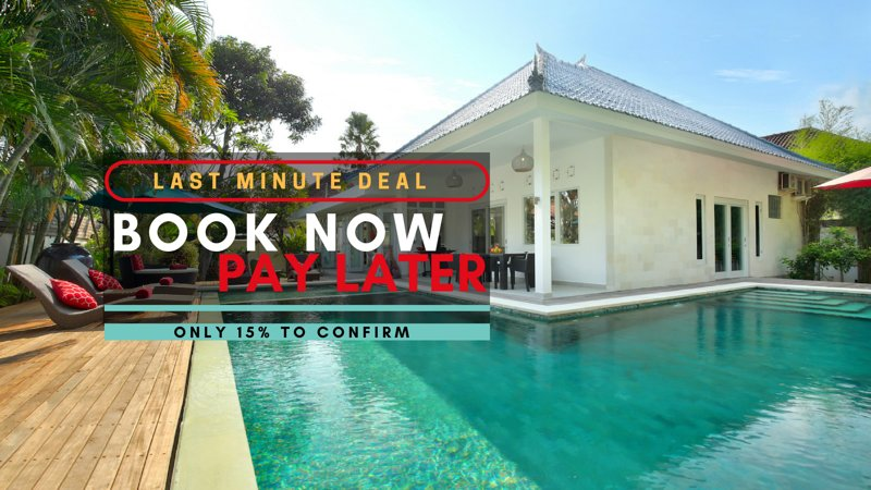 BOOK NOW - PAY LATER!