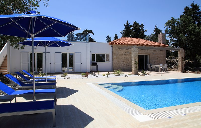 Back of villa and pool