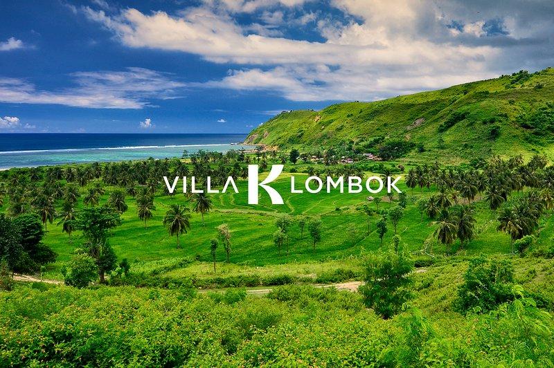 Ver al mar desde Villa K a través de los campos de arroz.