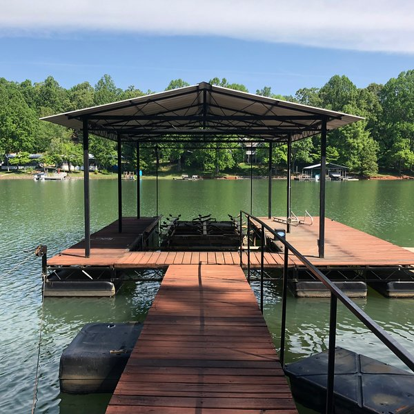Our private dock is available for guest use. Bring your boat or rent one to explore the lake!