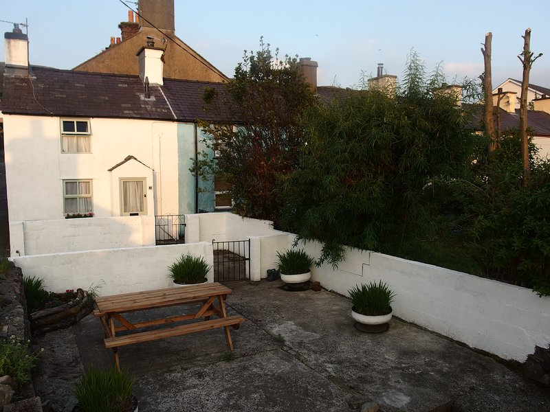 Our cottage, private garden and parking area
