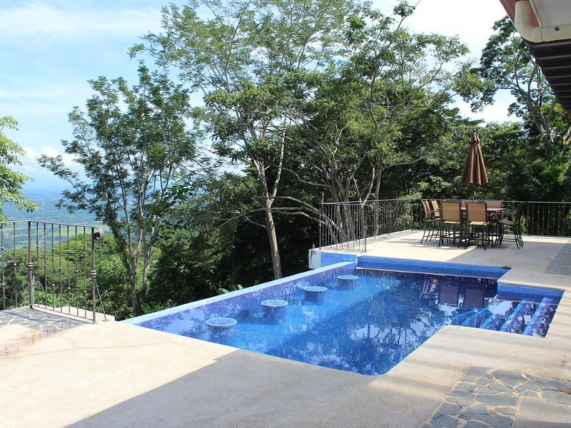 Infinity Pool that overlooks the Gulf of Nicoya.  4 built in stools to sit and relax.