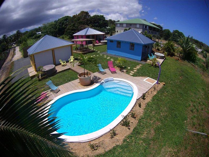 Ambiance créole bleu, vacation rental in Sainte Rose