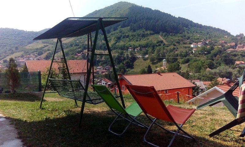 2BR.Apt.Terrace+Garden-The best view&TOP location!, holiday rental in Ilijas