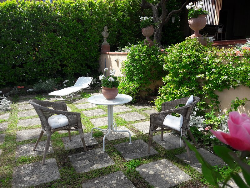Relax on your 8.50m by 3.50m terrace. With sun in mornings & afternoons & shade for the midday heat.