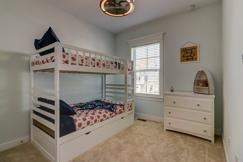 2nd BR # 2 Twin Bunk Beds w/ Single Trundle Bed