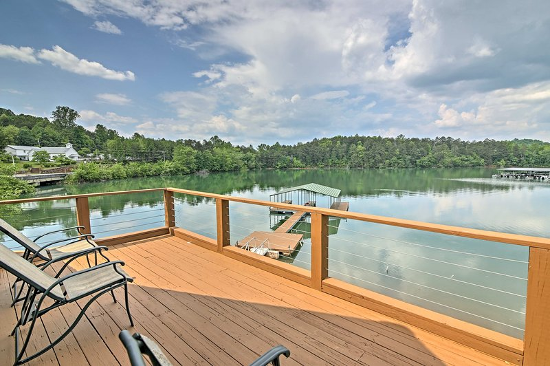 Private Balcony | Lake Views | Patio Furniture | Steps Required