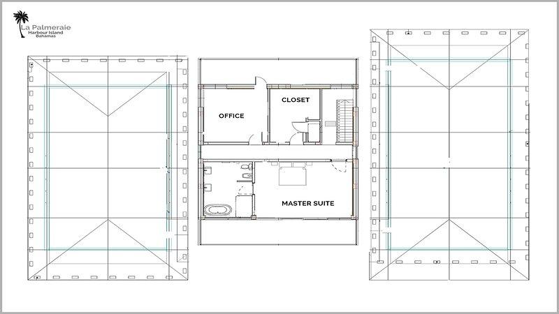 planos de planta: segundo piso - Master Suite