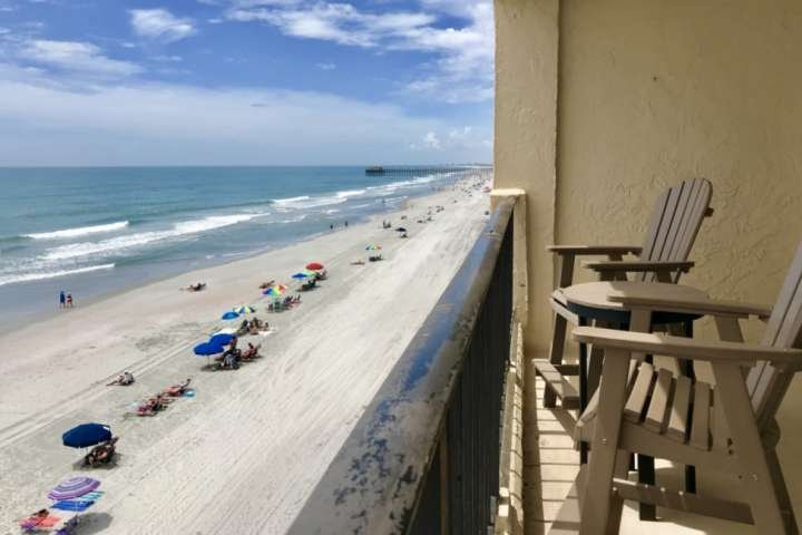 Your balcony view ! See the Garden City Pier just a short walk away