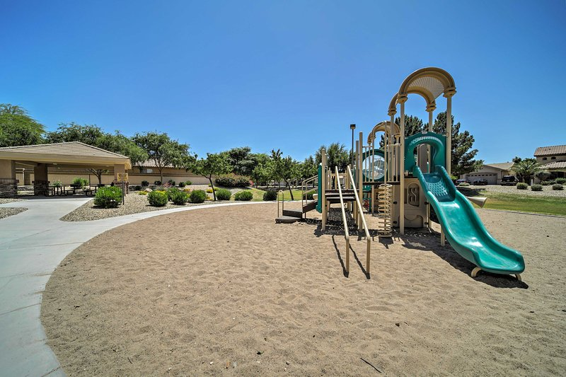 Kids of all ages will love the park and jungle gym near the house.