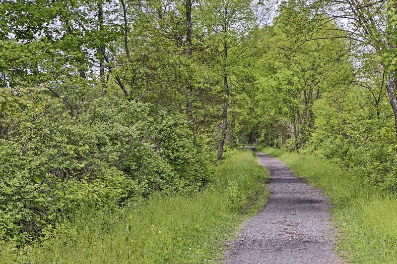 The rail trail leads right to the village of New Paltz!