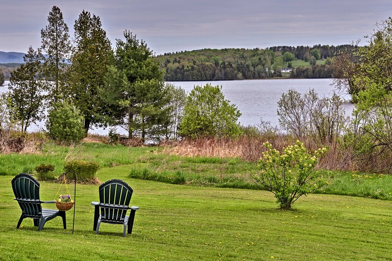 Enjoy breathtaking views over Little Hosmer Pond - found right in the backyard!