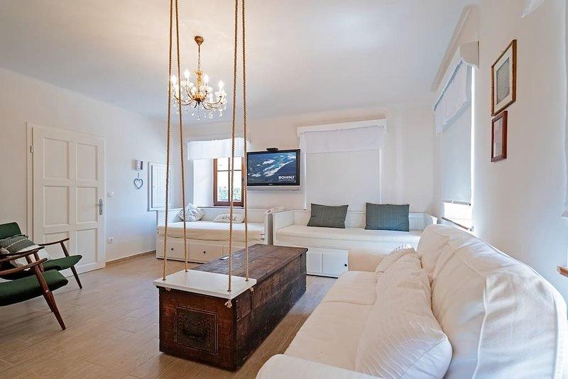 espaçosa sala de estar