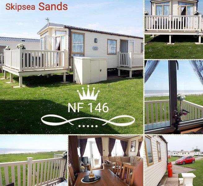 Skipsea Sands, Northfield 146 , Christines caravan,Sea view,  C/h-D/g ,WIFI, holiday rental in Barmston