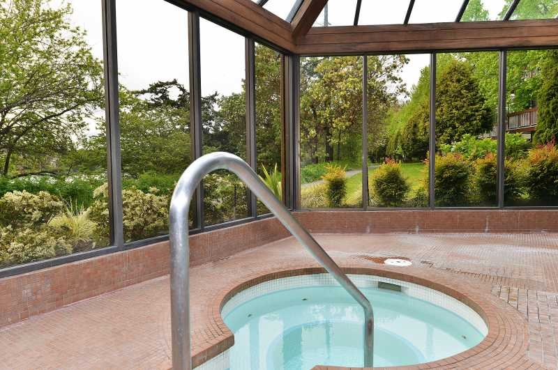 Cedar Shores development includes indoor pool and spa.