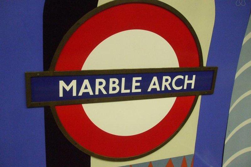 Estación de metro Marble Arch está a 8 minutos a pie