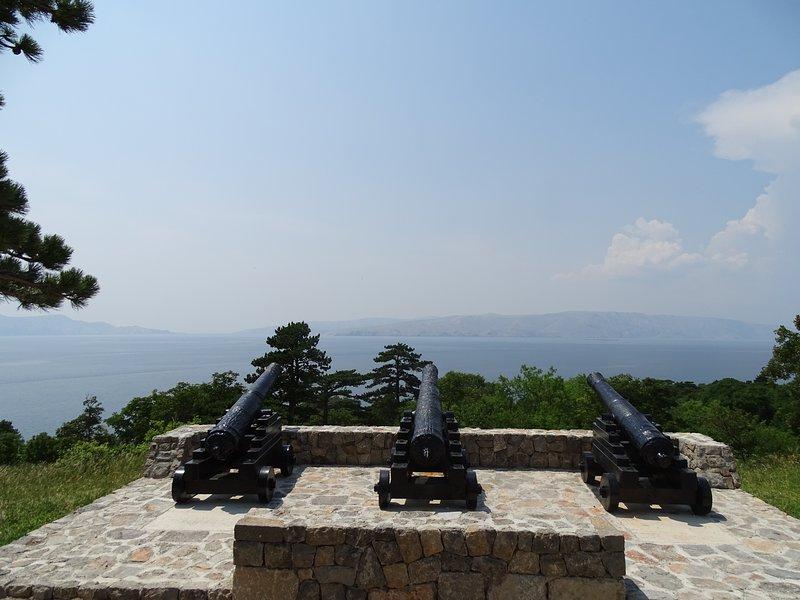 Cannons in front of Nehaj fortress in Senj