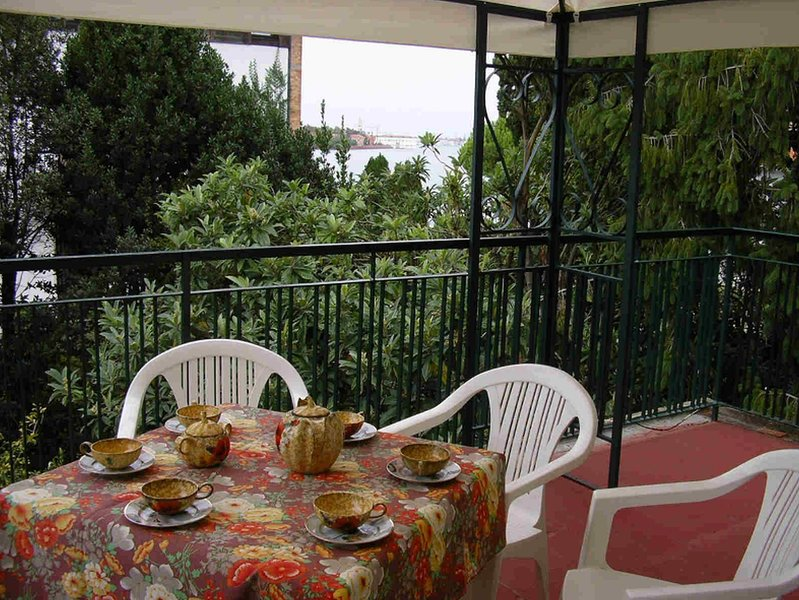 Breakfast and lunch or dinner on the terrace overlooking Venice and the lagoon