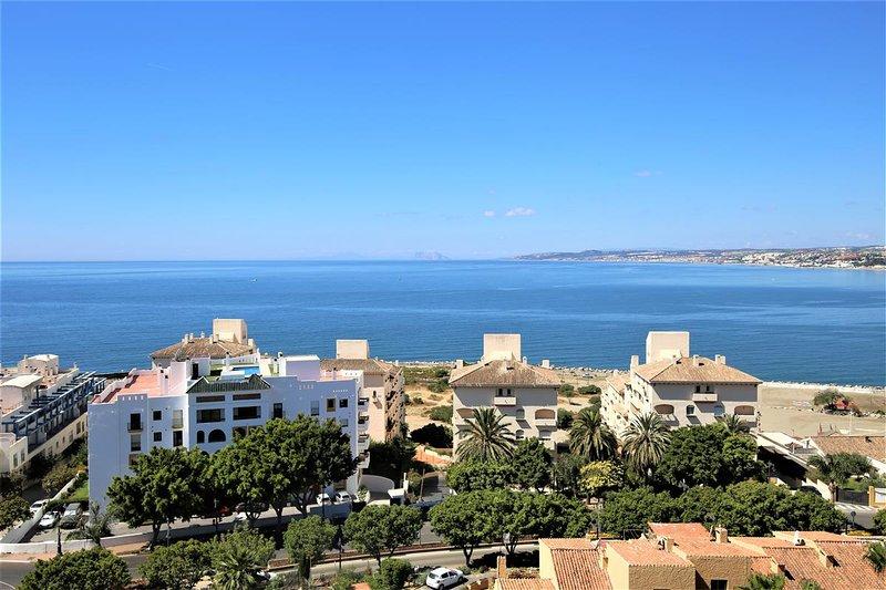 Amazing seaviews overlooking the marina, beach and Gibraltar