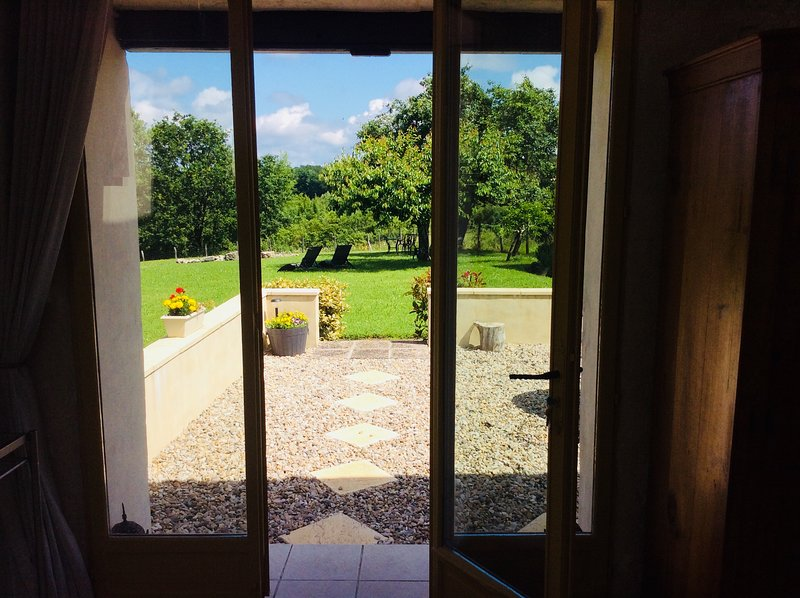 looking out to the front terrace