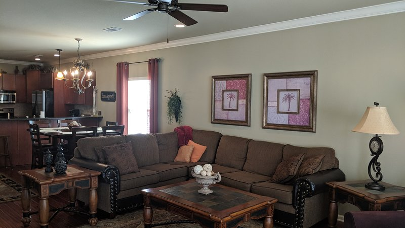 Enjoy the comfortable living room furniture with six or more of your guests.
