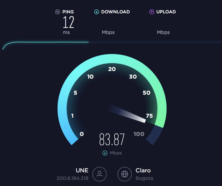 Fast 100 MB internet, delivering 84 MB WiFI download and 60 MB upload speed