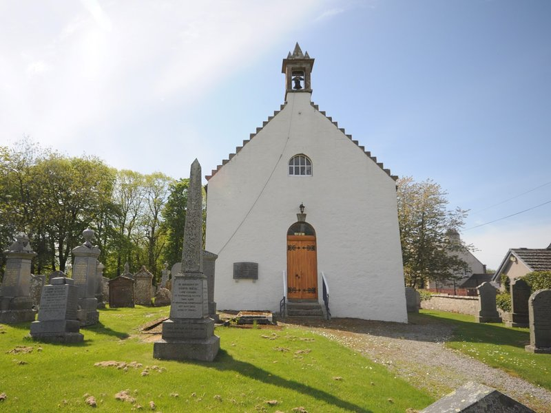 The Auld Kirk at the centre of the village