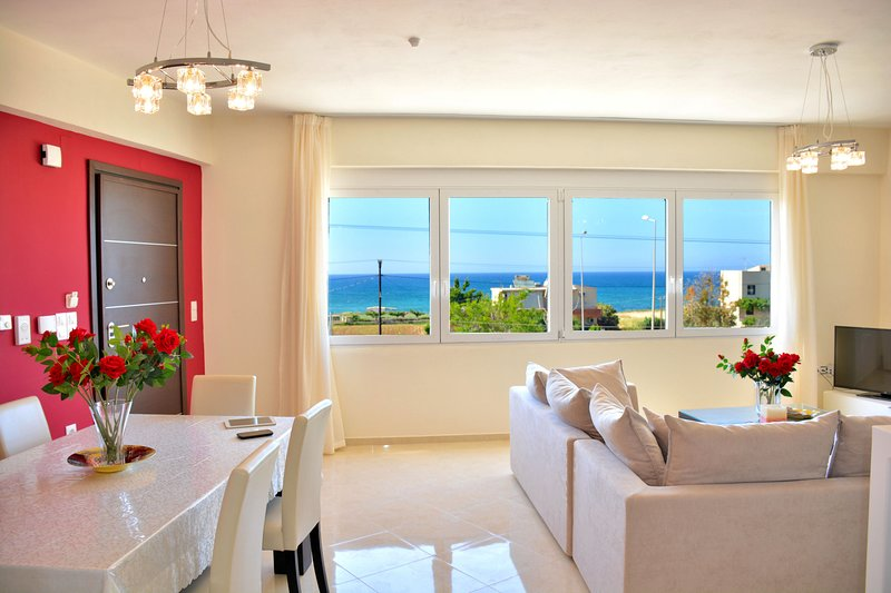 Modern sea view Suite-Red, vacation rental in Stavromenos Rethymnis