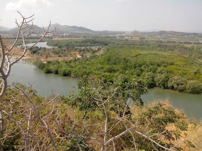 View from Fishermans Temple (Pranburi River) Pak Nam Pran