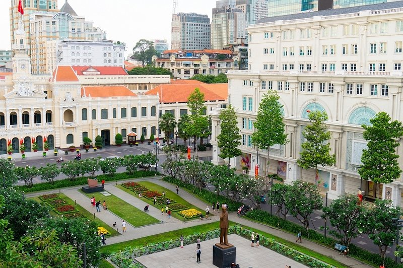 Attraction - Union Square - rue Nguyen Hue (6 minutes en taxi)
