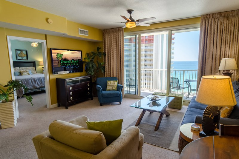55' LED HD Television with Blu Ray player!  Great for watching your favorite shows and the BIG GAME, too!  DirecTV is provided throughout the condo.
